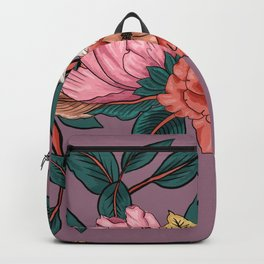 colorful realistic flowers Backpack