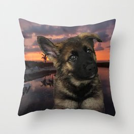 Loki German Shepherd Throw Pillow