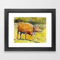 Cow, Bull you tell me? Framed Art Print