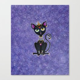 Baby Bastet, Egyptian Princess Canvas Print