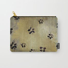 posies on vintage linen Carry-All Pouch