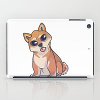 shiba iPad Cases featuring Shiba Inu by Suzanne Annaars