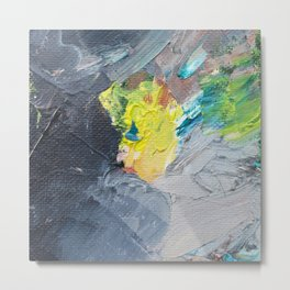 Passing Storm Abstract Painting Metal Print