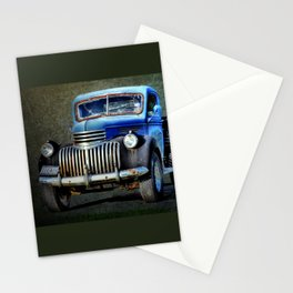 Vintage Blue Pickup Truck  Stationery Cards
