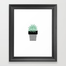 blooming yucca Framed Art Print