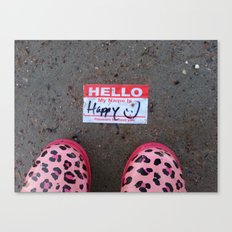 Hello, My Name Is Happy Canvas Print