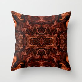 Chocolate absract Throw Pillow