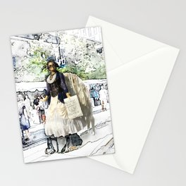 Love One Another - Steampunk Angel Stationery Cards