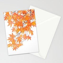 orange yellow maple leaves 2 Stationery Cards