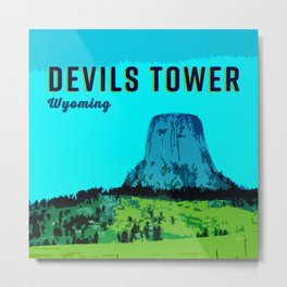 Devils Tower Wyoming Metal Print