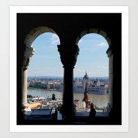 budapest Art Prints featuring Budapest by Lynn Bolt
