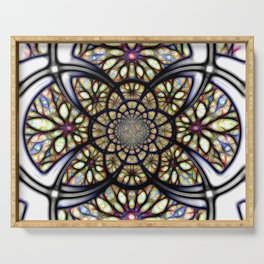 The Art Of Stain Glass Serving Tray