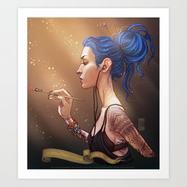 Karou Painting in Light Art Print