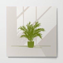 Areca palm   Plants illustration Metal Print