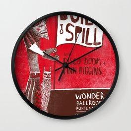 Built to Spill - Wonder Ballroom, Portland Wall Clock