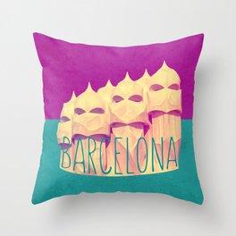 Barcelona Gaudi's Paradise Throw Pillow