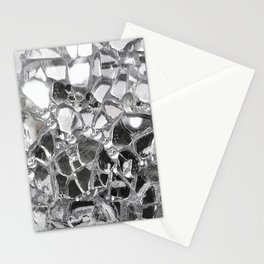 Silver Mirrored Mosaic Stationery Cards