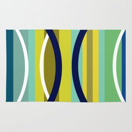 Midcentury Modernism Stripes & Circles Rug