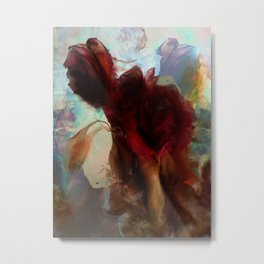 Misted Rose Metal Print