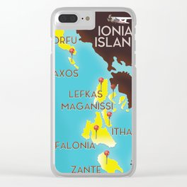 ionian Islands map Clear iPhone Case