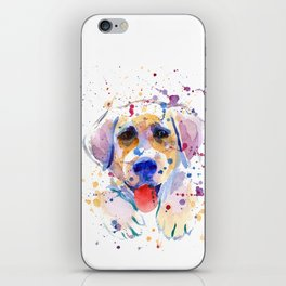 White labrador puppy portrait iPhone Skin
