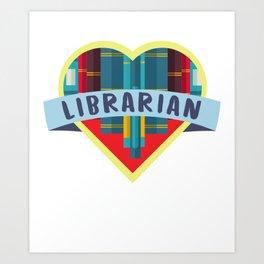 I Like Books More Than People Librarian Book Nerd Nerd Reading Art Print