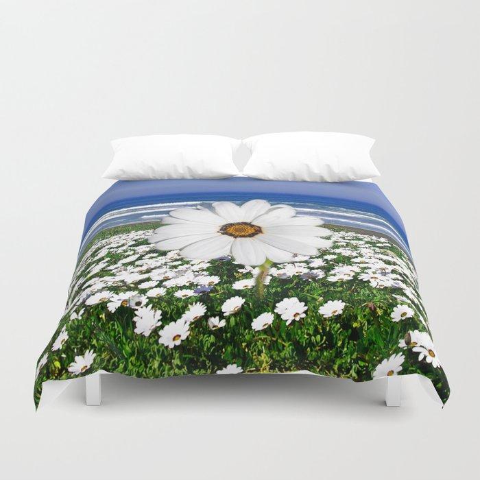 White Spring Duvet Cover