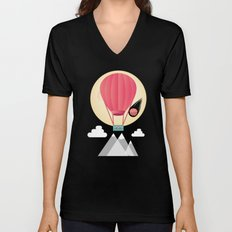 Sun, Moon & Balloon Unisex V-Neck