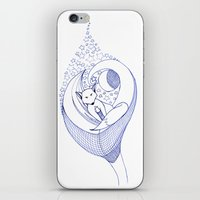 starry night iPhone & iPod Skins featuring Starry by Felizias