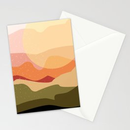 minimalist coral landscape Stationery Cards