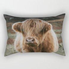 Folk Cow Rectangular Pillow