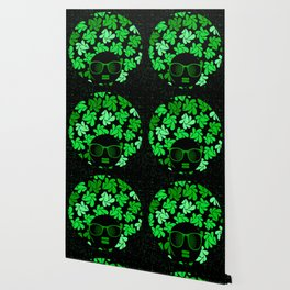 Afro Diva : Green & Black Wallpaper
