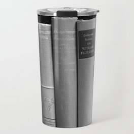 Books - Black and White Travel Mug