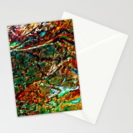 Emerald Impressions Abstract Stationery Cards