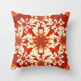 Digital Decorative Floral Pattern Throw Pillow