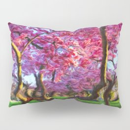 Dance of the Cherry Tree Blossoms Pillow Sham