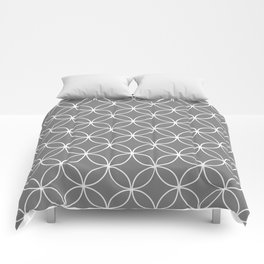 Crossing Circles - Elephant Gray Comforters