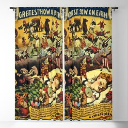 1890 Barnum and Bailey Greatest Show on Earth A Child's Dream Vintage Poster Blackout Curtain