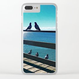 put a bird (or ten) on it Clear iPhone Case