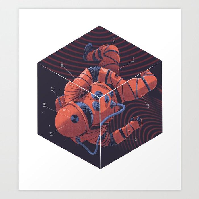 Cube Art Print