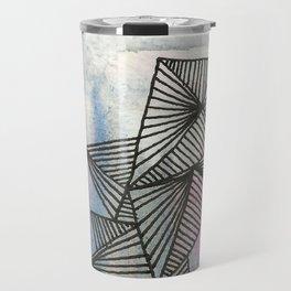 Geometrical Watercolour Travel Mug