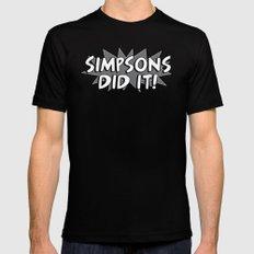 Simpsons Did It! Mens Fitted Tee MEDIUM Black