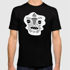 stencil face TEE invert LARGE Black Mens Fitted Tee