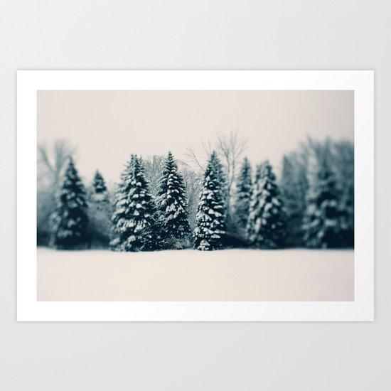Winter & Woods Art Print