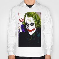 joker Hoodies featuring joker by Saundra Myles