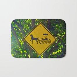 Amish Traffic Sign Bath Mat