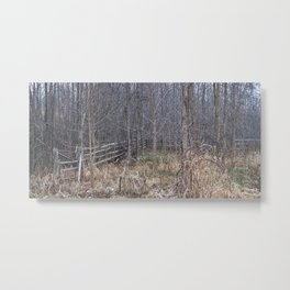 Fenced-in and Neglected Metal Print