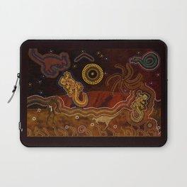 Desert Heat - Australian Aboriginal Art Theme Laptop Sleeve