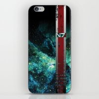 n7 iPhone & iPod Skins featuring N7 Battle Damaged Armor by ThePyratQueen