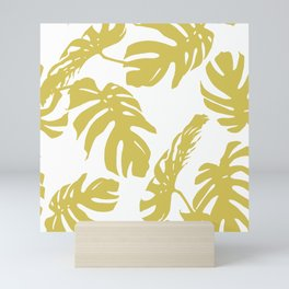 Simply Mod Yellow Palm Leaves Mini Art Print